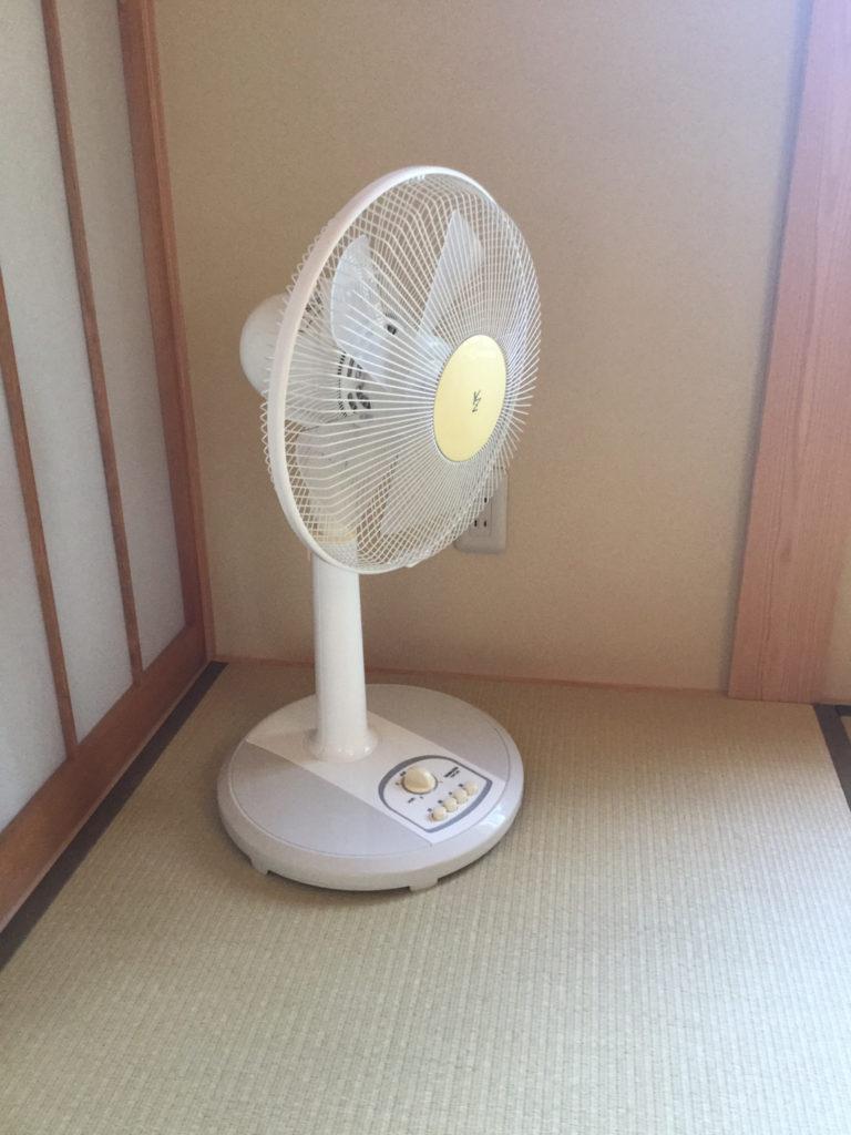 扇風機はじめました。